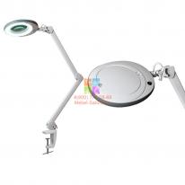 Лампа-лупа LED (48 светодиодов 8 диоптрии) кронштейн серый ободок СА