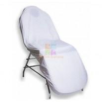 Чехол на кушетку на резинке многоразовый, ПВХ, 90х200 см, белый CA