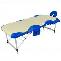 Массажный стол складной алюминиевый с волной JFAL01A (МСТ-102Л) СА