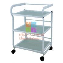 Столик массажный (металл/стекло) - н02 СА