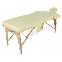 Массажный стол складной деревянный JF-AY01 2-х секционный (МСТ-003Л) СА