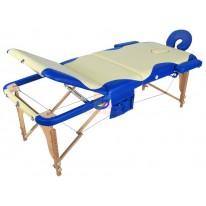 Массажный стол складной деревянный JF-AY01 3-х секционный с волной (МСТ-103Л) СА
