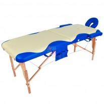 Массажный стол складной деревянный JF-AY01 2-х секционный с волной (МСТ-003Л) СА