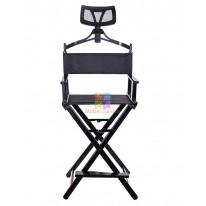 Алюминиевый стул визажиста-бровиста с подголовником СА