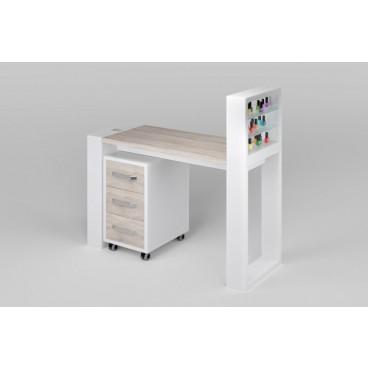 """Маникюрный стол """"Matrix"""" с подставкой для лаков и тумбой"""